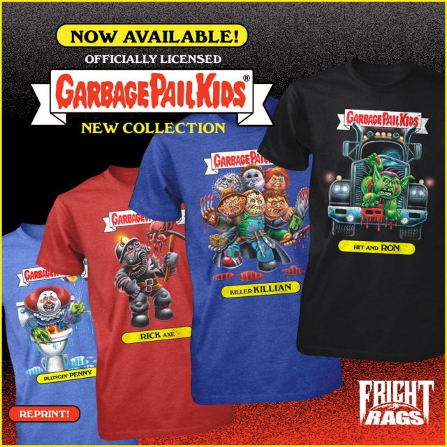 SCARY STORIES TO TELL IN THE DARK, HOUSE & GARBAGE PAIL KIDS Merchandise from Fright-Rags