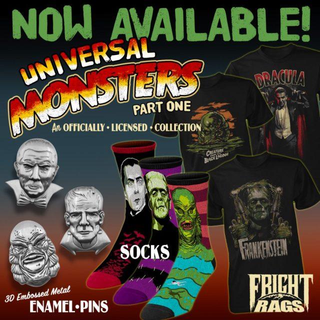 Get Spooky with HALLOWEEN, UNIVERSAL MONSTERS, FANGORIA, STARLOG, GOREZONE & JOE BOB BRIGGS Merchandise from Fright-Rags