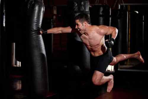 Image result for hitting a punching bag