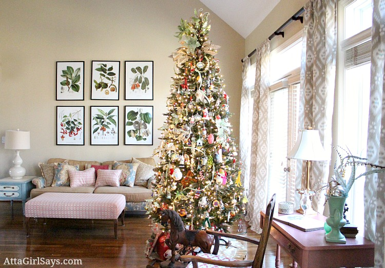 Christmas House Tour 2017 Our Living Room Tree Part 73