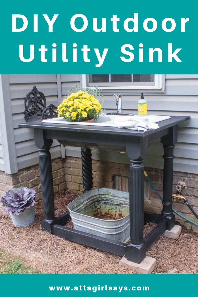 DIY Outdoor Sink Using a Cast Iron Farmhouse Sink on Outdoor Patio Sink id=60300