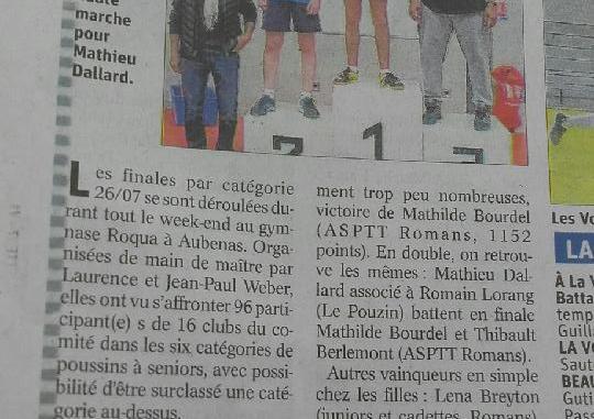 Finales par catégories 2019 - Dauphiné Drôme 2019-04-16