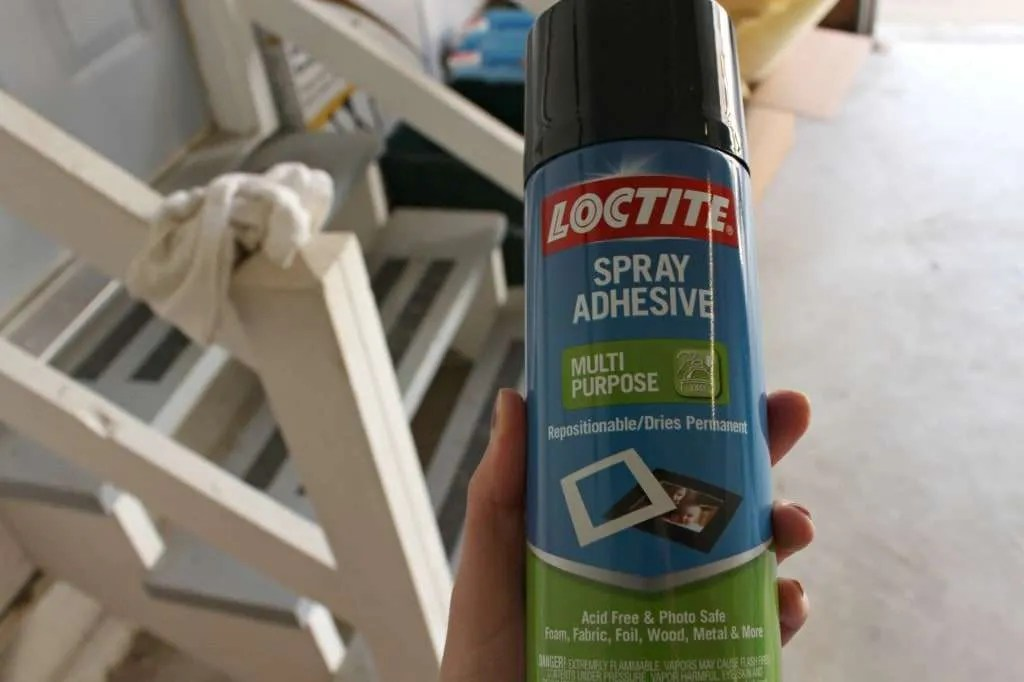 using spray adhesive