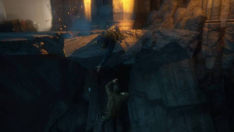 Nel trailer era Sam a cadere...