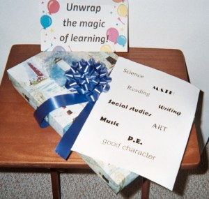 Turn decorative boxes or plain celephane bags into Opportunity Boxes or Bags for Attention and Learning!