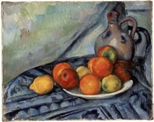 Paul Cezanne, Fruit and a Jug on a Table, circa 1890-94, oil on canvas, 12/34 x 16 in., Museum of Fine Arts, Boston, Bequest of John T. Spaulding, Photograph C 2012 Museum of Fine Arts, Boston