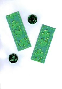 Slip some Irish treasures inside handmade St. Patrick's Day cards!