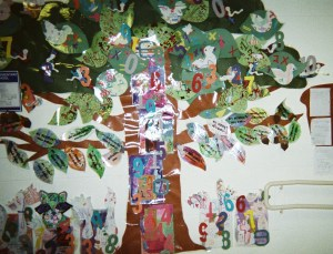 Make a Math Tree in the hall outside your classroom.