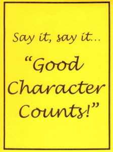 Make a Bulletin Board: Good Character Counts!