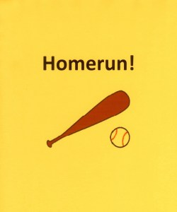 Wow! When you step up to homeplate and bat a ball with this magical bat...automatic HOMERUN!