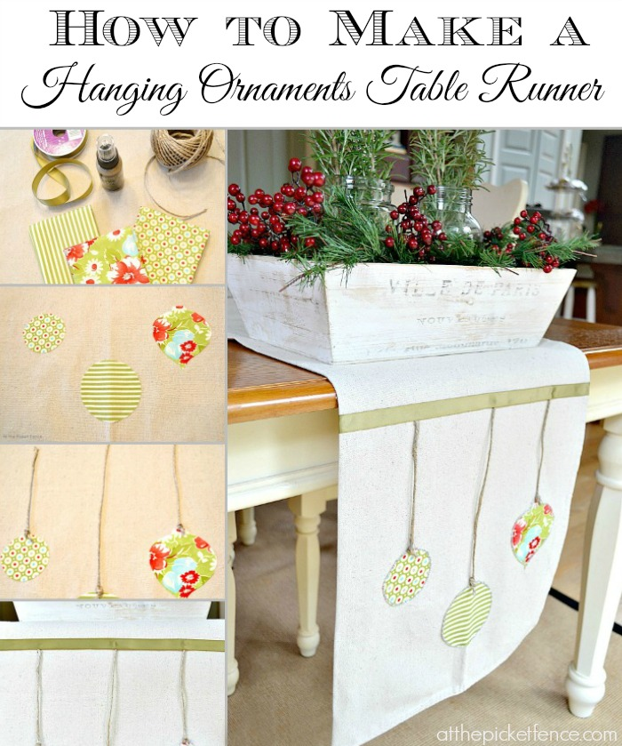 How to make a hanging ornaments table runner | Pretty Handy Girl