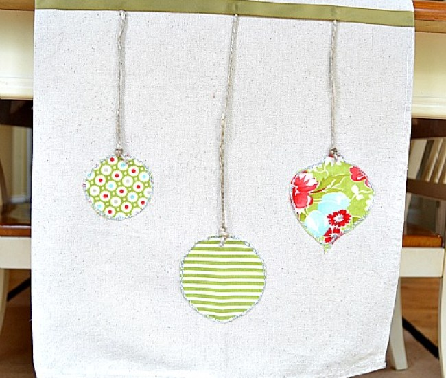 How to make a hanging ornaments table runner   Pretty Handy Girl