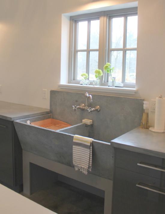slate sink with backsplash