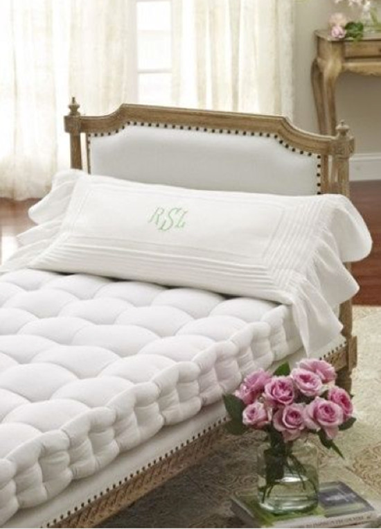 French Mattress White Upholstered Wood Frame Daybed With Casastephensinterior