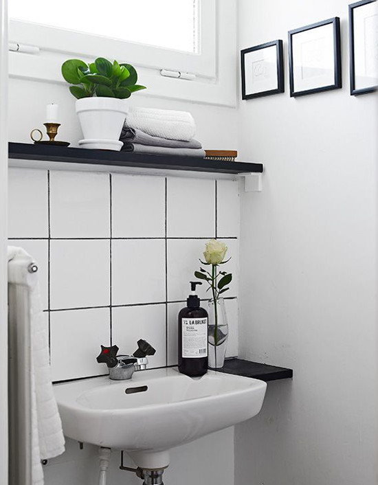 contrasting tile and grout atticmag