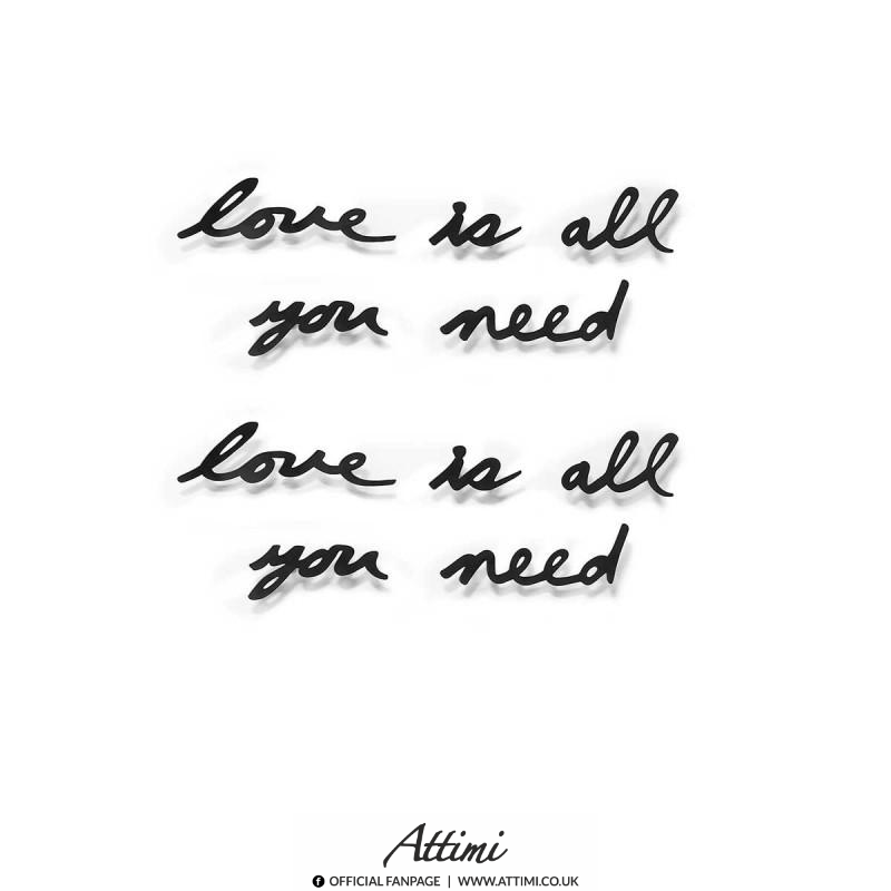 Love is all you need Love is all you need.