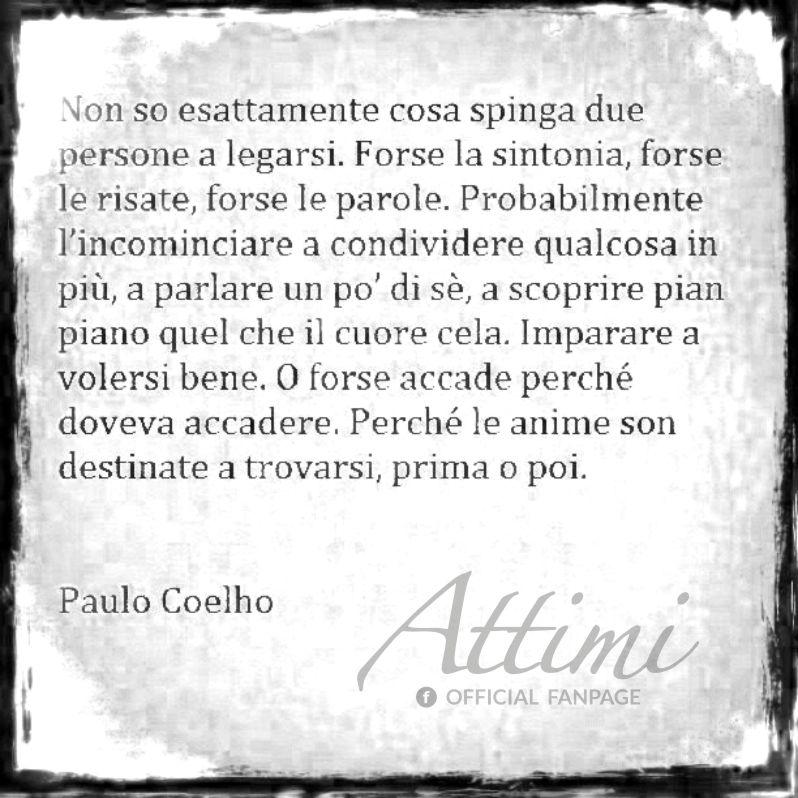 Non sò esattamente cosa spinga due persone a legarsi. ( Paulo Coelho )