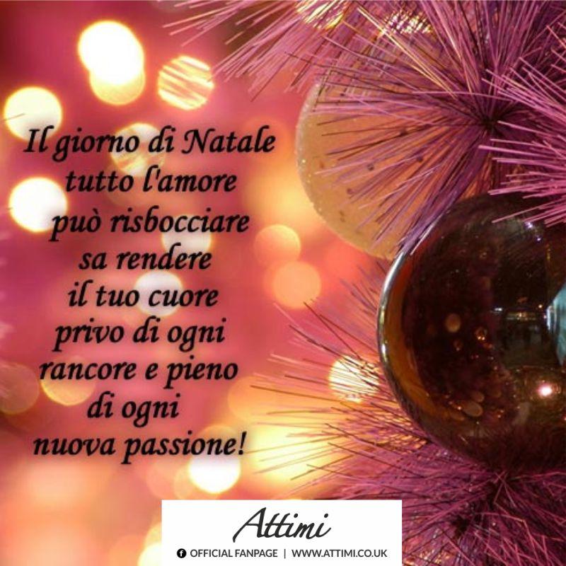 Il giorno di Natale tutto l'amore può risbocciare sa rendere il tuo cuore privo di ogni rancore e pieno di ogni passione!