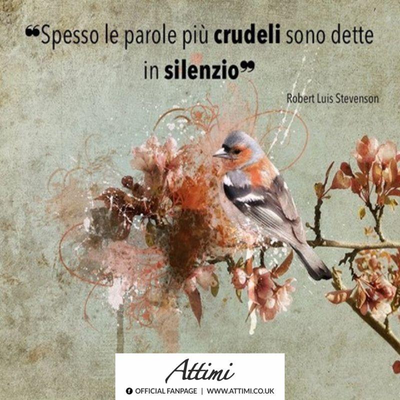Spesso le parole crudeli sono dette in silenzio ( Robert Luis Stevenson )