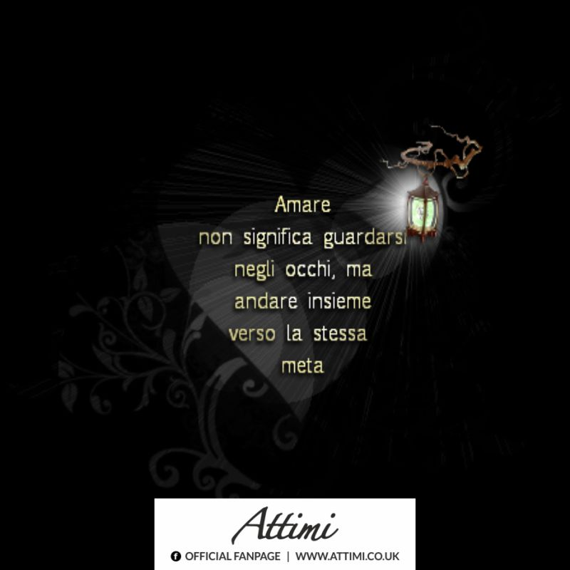 Amare non significa guardarsi negl' occhi, ma andare insieme verso la stessa meta.