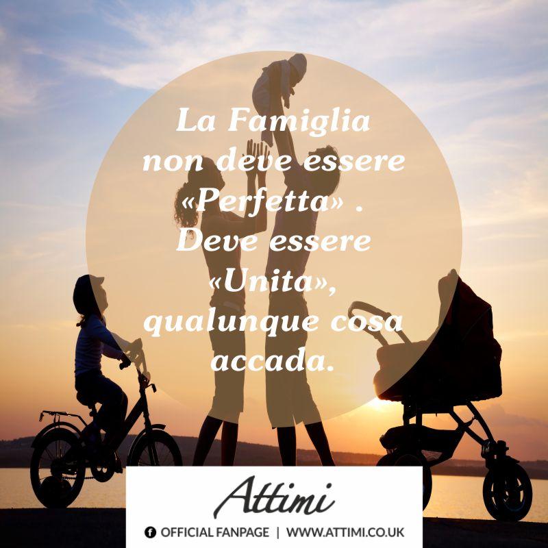 La famiglia non deve essere perfetta. Deve essere unita, qualunque cosa accada.