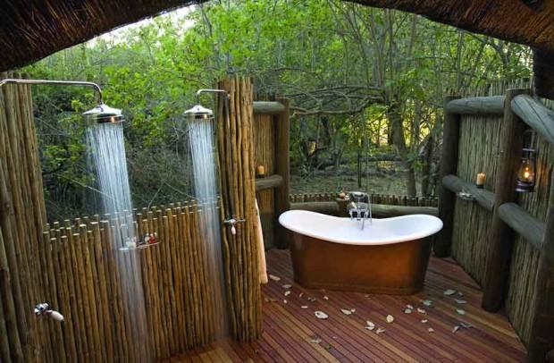 Il bagno per gli amanti della natura e della vita all'aperto.