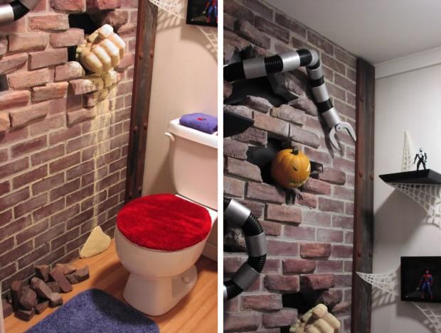 La Toilette con fumetti 3D.
