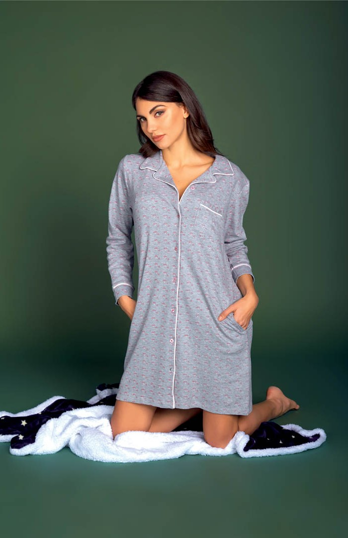 Camicia da notte Interlock - AT207I