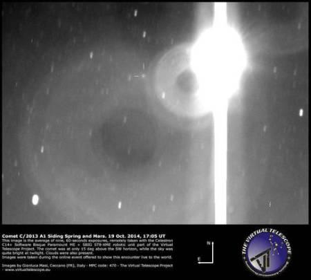 Cometa Marte Masi: la cometa Siding Spring ripresa dal Virtu