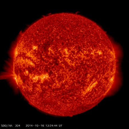 sdo aia 304 oct 16 2014 13-24 m4-3 southeast limb 3
