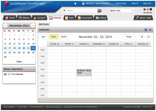 Firm Manager Calendar