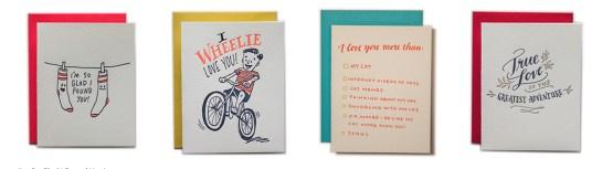 LadyFingers LetterPress Valentines