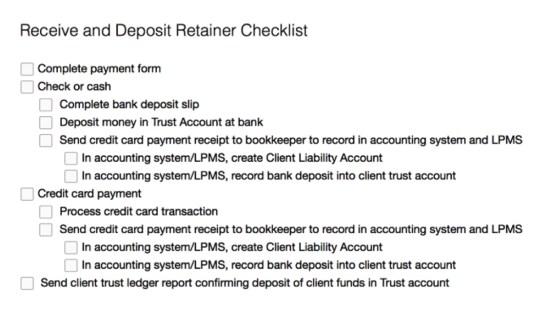 Retainer Checklist