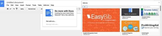 Google Docs Add Ons