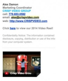 Email Signature with Video