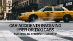 Car Accidents Involving Uber and Taxi Cab Vehicles