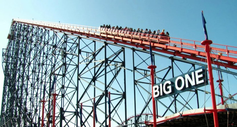 Blackpool Pleasure Beach - The Big One Lift Hill
