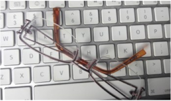 Keyboard with glasses