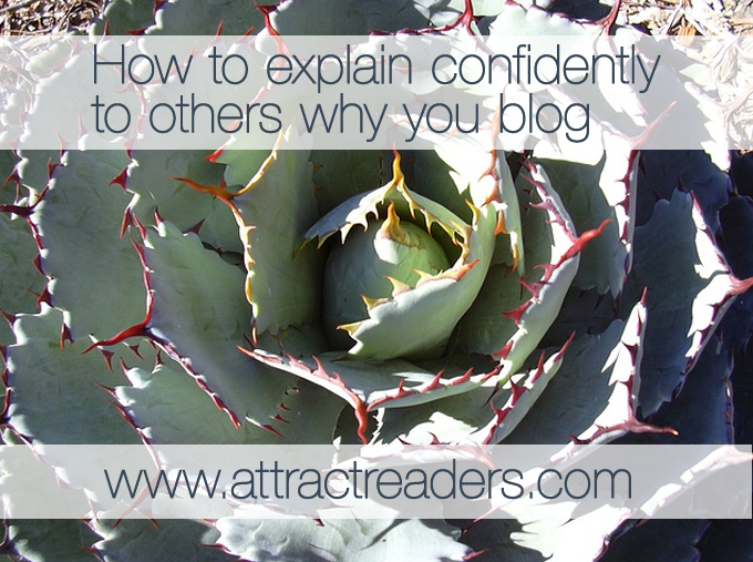 Explain why you blog