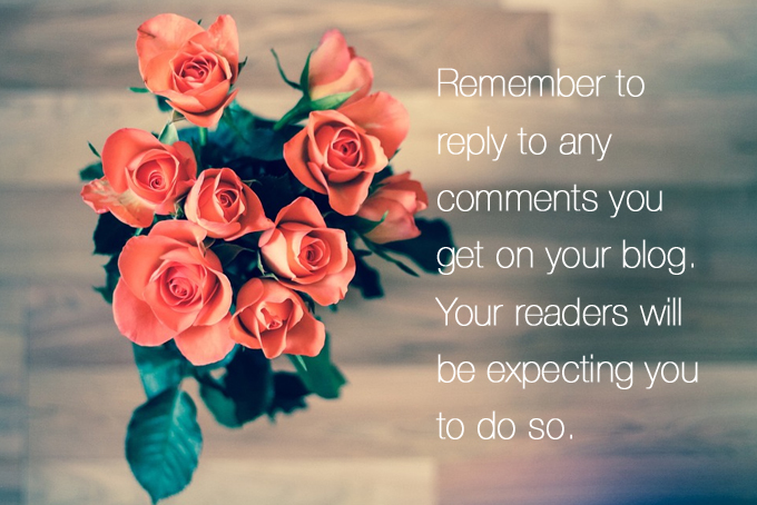 Reply to your blog comments