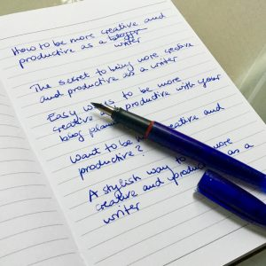 Be more creative and productive as a blogger