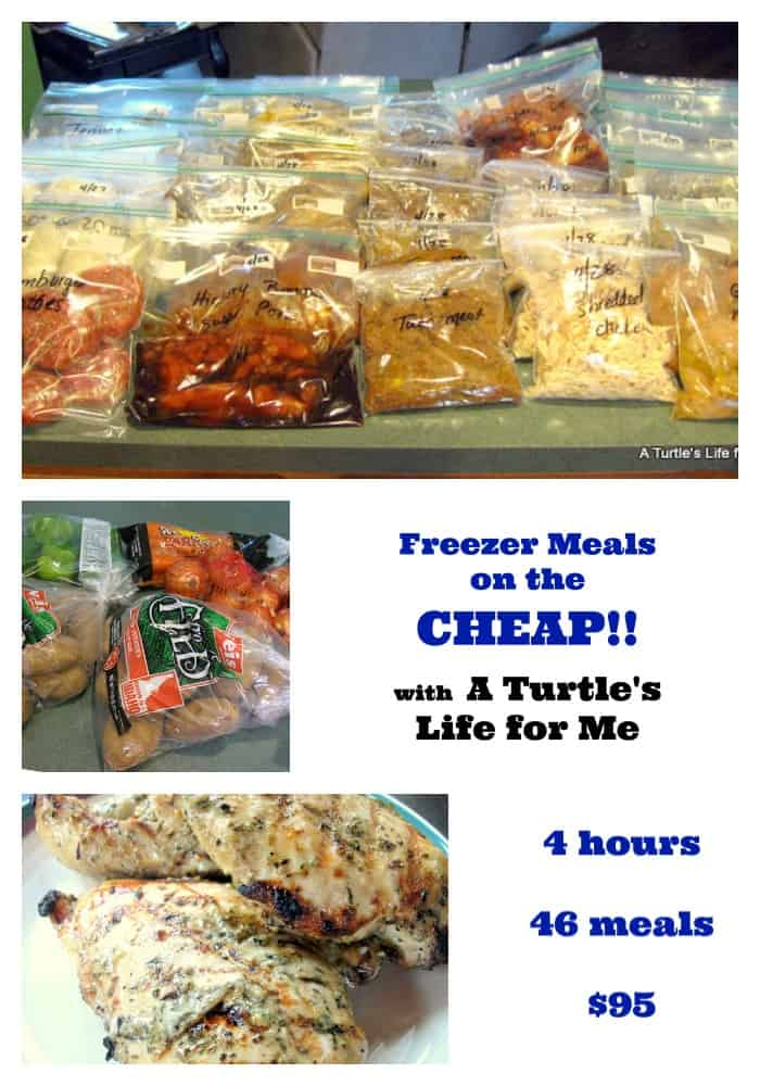 freezer meals OAMC collage