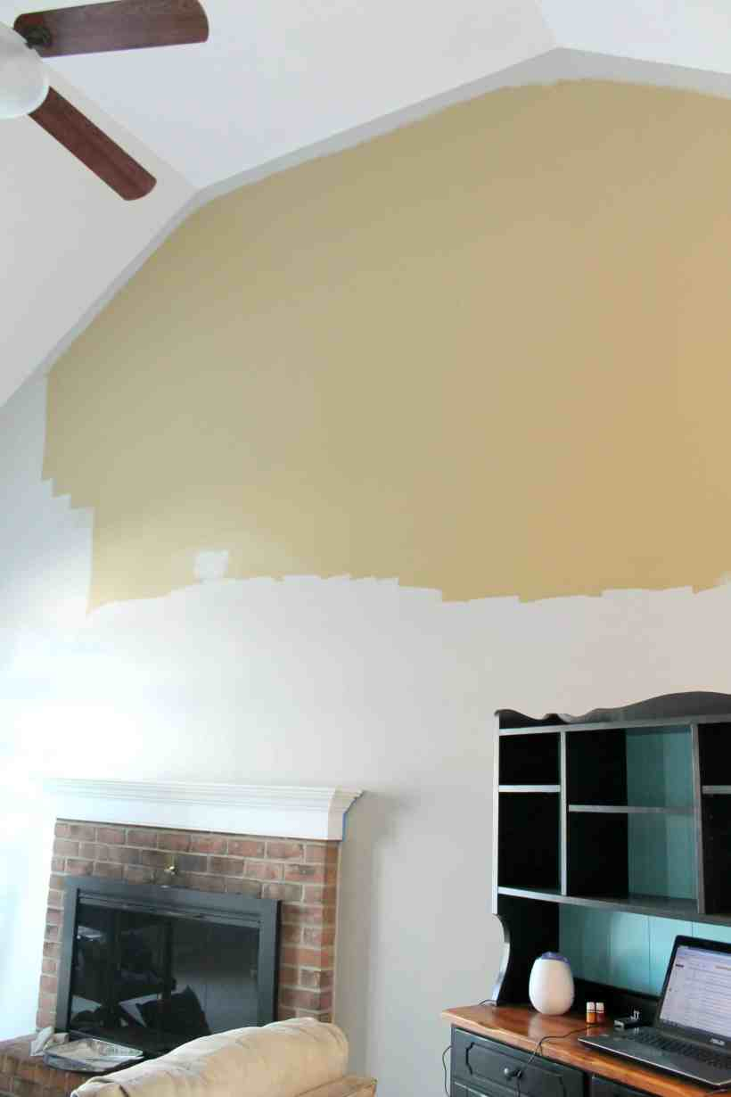 Painting a high ceiling for How to paint a ceiling