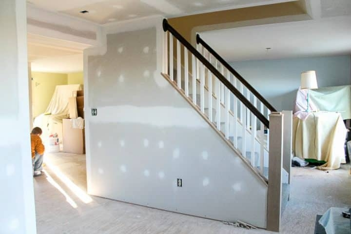How To Open Up An Interior Staircase A Turtle S Life For Me | Opening Up Basement Stairs | Underneath | Landing | Living Room | Wall | Basement Above