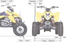 2009 Suzuki LT-Z400 ATV Quad Sport postura más amplia