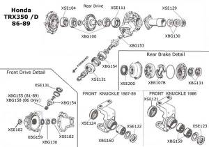 Honda TRX350 Rancher ATV Parts