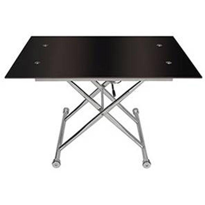 table basse en verre reglable en hauteur