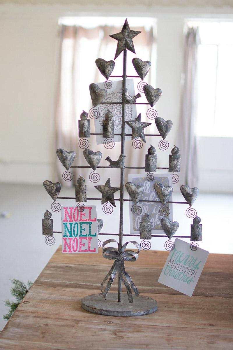 Rustic Grey Christmas Card Tree