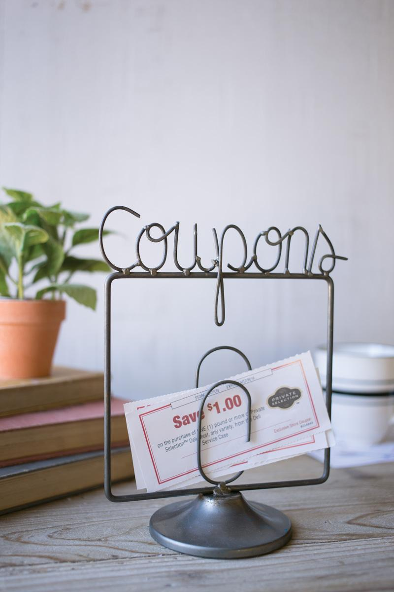 Wire Coupons Holder