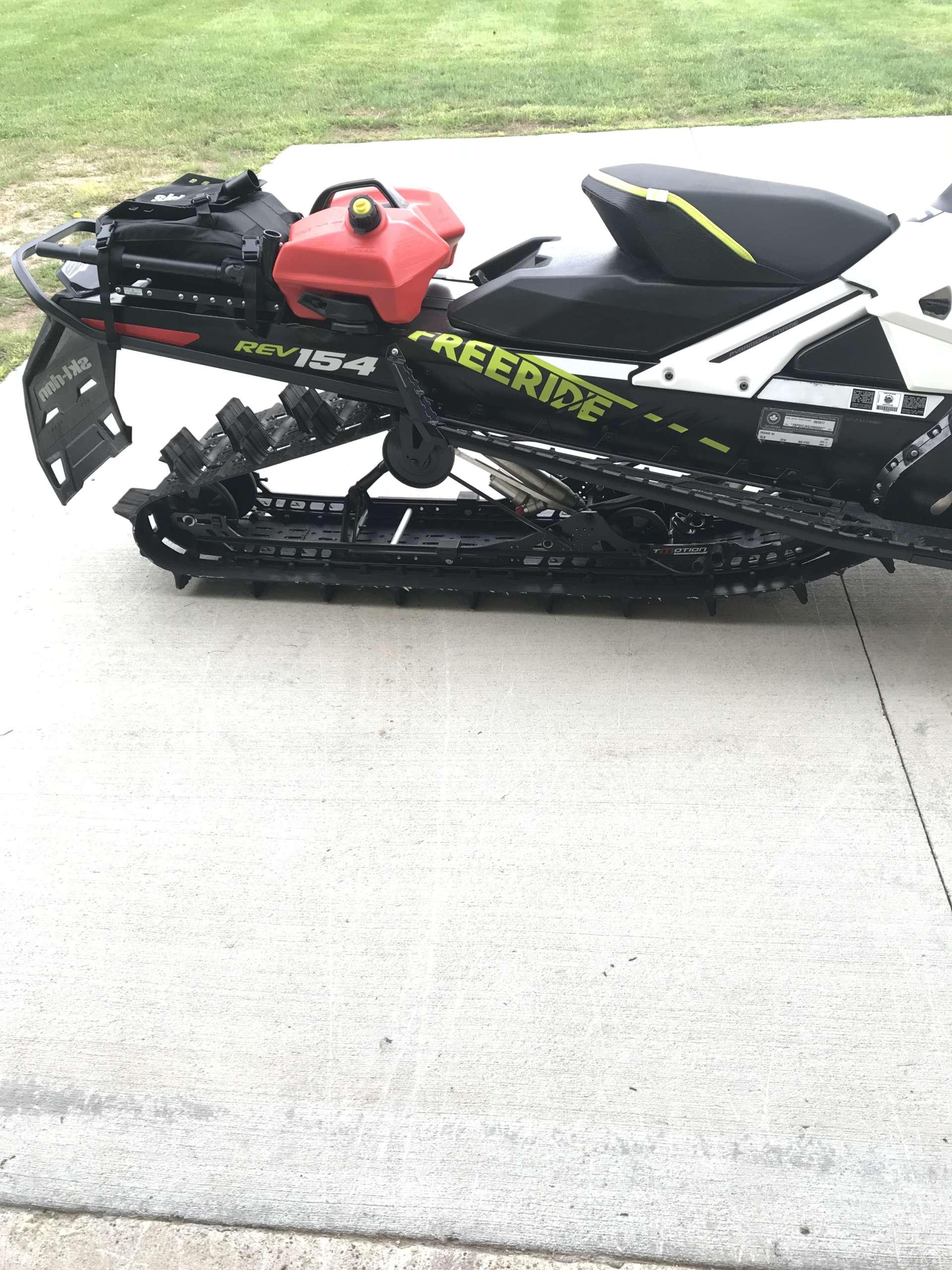 ski doo linq 154 snowmobile rack slim tunnel bag rack tunnel bag rack